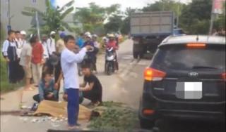 Hà Nội: Nam sinh tử vong sau khi va chạm với xe chở gạch