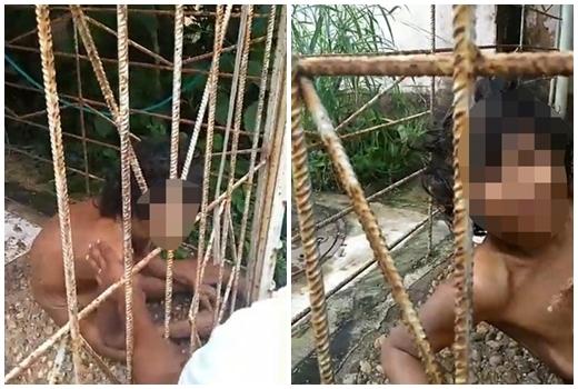 Con gái tâm thần bị gia đình lột quần áo, nhốt vào lồng sắt 15 năm