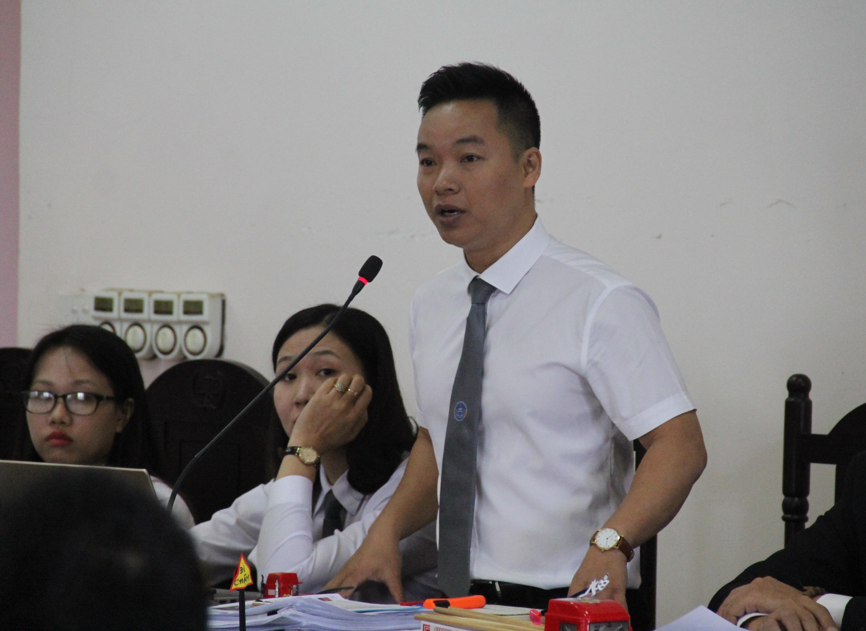 luật sư Thanh đề nghị HĐXX cho cấp sơ thẩm thực nghiệm điều tra lại vụ án này