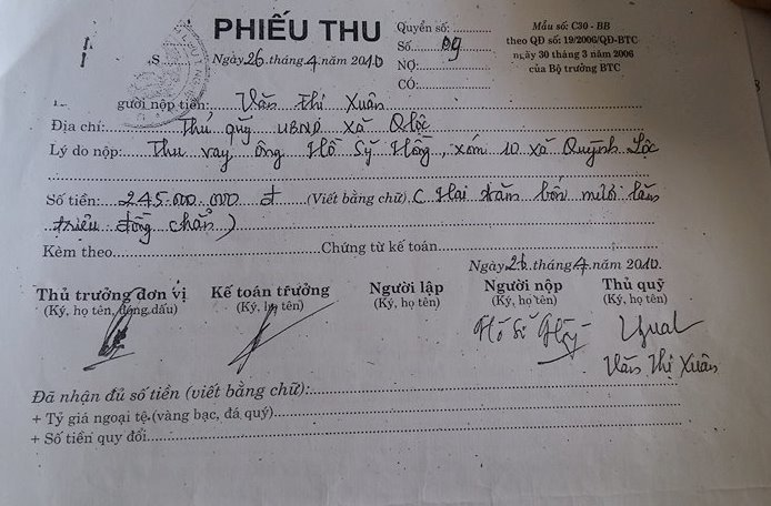 Nghệ An: Dân khởi kiện chính quyền vì vay tiền 10 năm không trả