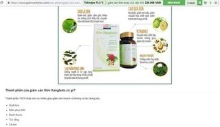 Công ty TNHH Wall Street: Quảng cáo TPCN Slim Kangtado như thuốc, lừa dối người tiêu dùng?