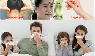 Chỉ 3 phút bấm huyệt đơn giản, bệnh cảm cúm thuyên giảm ngay