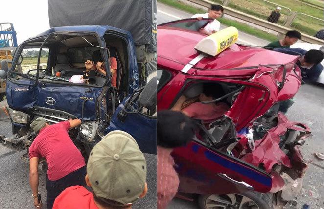 Xử lý như nào vụ taxi bị đâm biến dạng khi chở người đi cấp cứu trên cao tốc Hà Nội - Thái Nguyên? 3