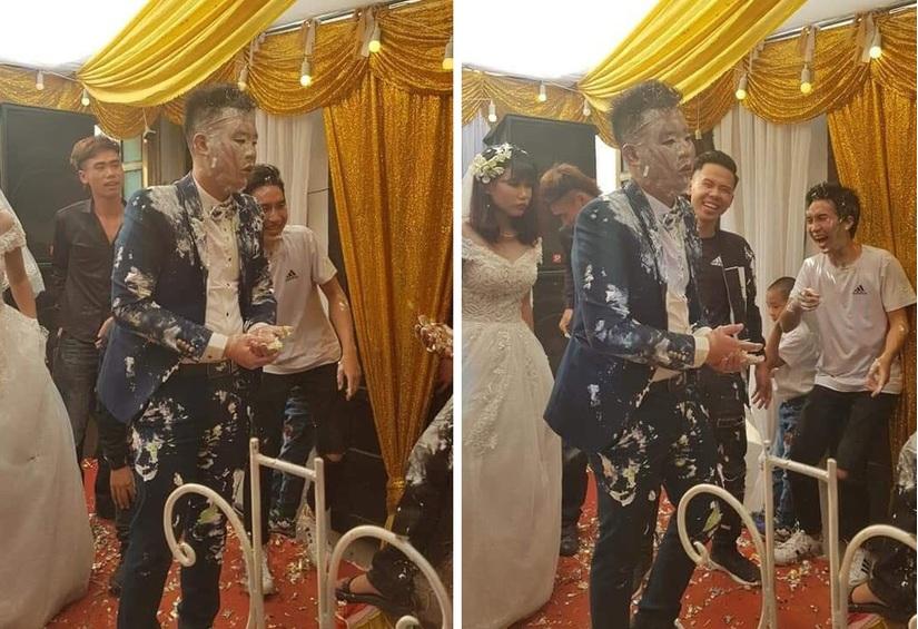 Clip: Chú rể đờ đẫn, cô dâu buồn thiu khi nhận quà cưới của hội bạn