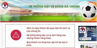 Trang web bán vé trận Việt Nam - Philippines tê liệt, CĐV bức xúc