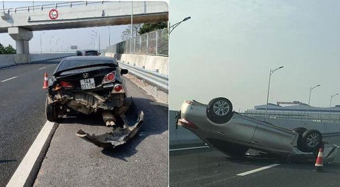 Quảng Ninh: Tài xế điều khiển xế hộp nổ lốp bỏ chạy sau khi gây tai nạn liên hoàn