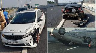 Quảng Ninh: Tài xế đi xe ô tô bỏ chạy sau khi gây tai nạn liên hoàn