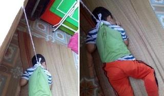 Phẫn nộ hình ảnh bé 4 tuổi bị buộc dây vào người, treo lên cửa số ở trường mầm non