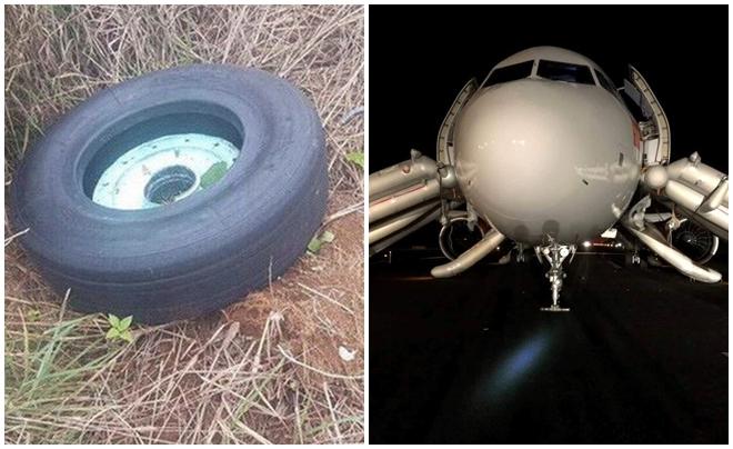 Tìm được chiếc lốp thứ 2 bị rơi khi máy bay Vietjet hạ cánh