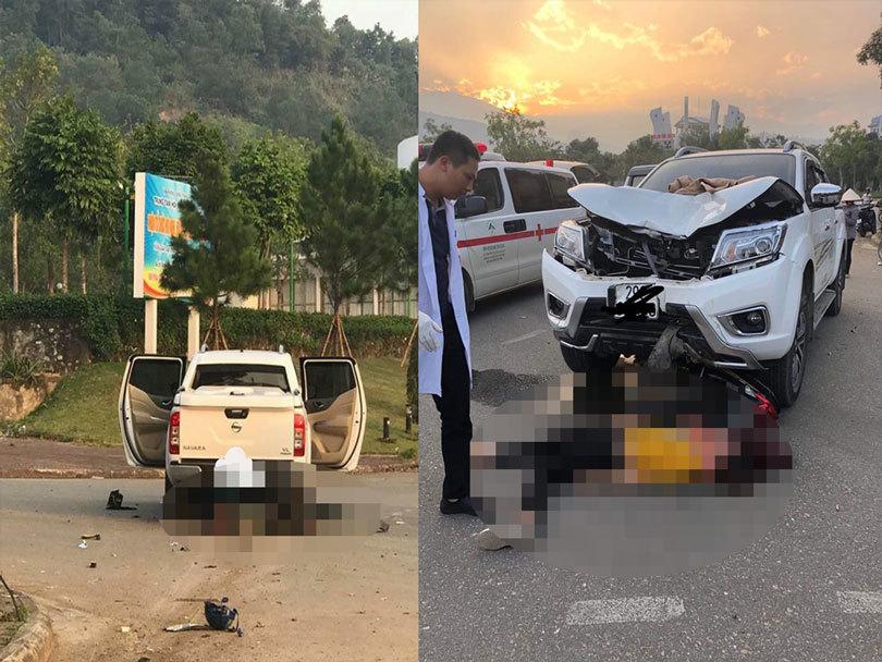 Lào Cai: Va chạm với xe ô tô bán tải, hai vợ chồng thương vong