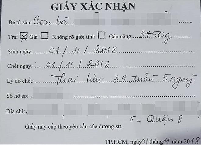 Thai phụ mất con khi cận kề ngày sinh tố bệnh viện Từ Dũ tắc trách