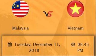 30.000 vé trận chung kết lượt đi Malaysia - Việt Nam hết sạch trong ít phút