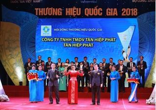 Tân Hiệp Phát 4 lần liên tiếp có sản phẩm được vinh danh Thương hiệu Quốc gia