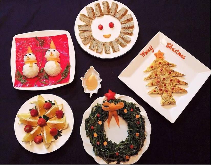 Mẹ khéo tay trang trí món ăn đầy màu sắc Giáng sinh khiến con thích mê