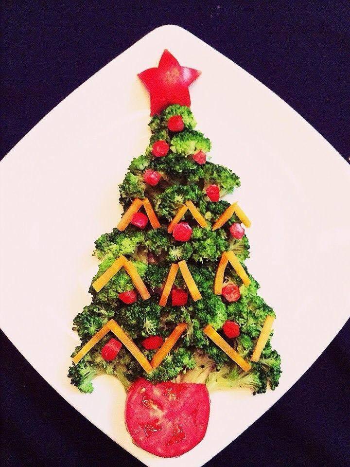 Mẹ khéo tay trang trí món ăn đầy màu sắc Giáng sinh khiến con thích mê13