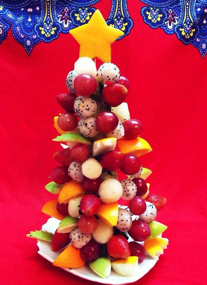 Mẹ khéo tay trang trí món ăn đầy màu sắc Giáng sinh khiến con thích mê14