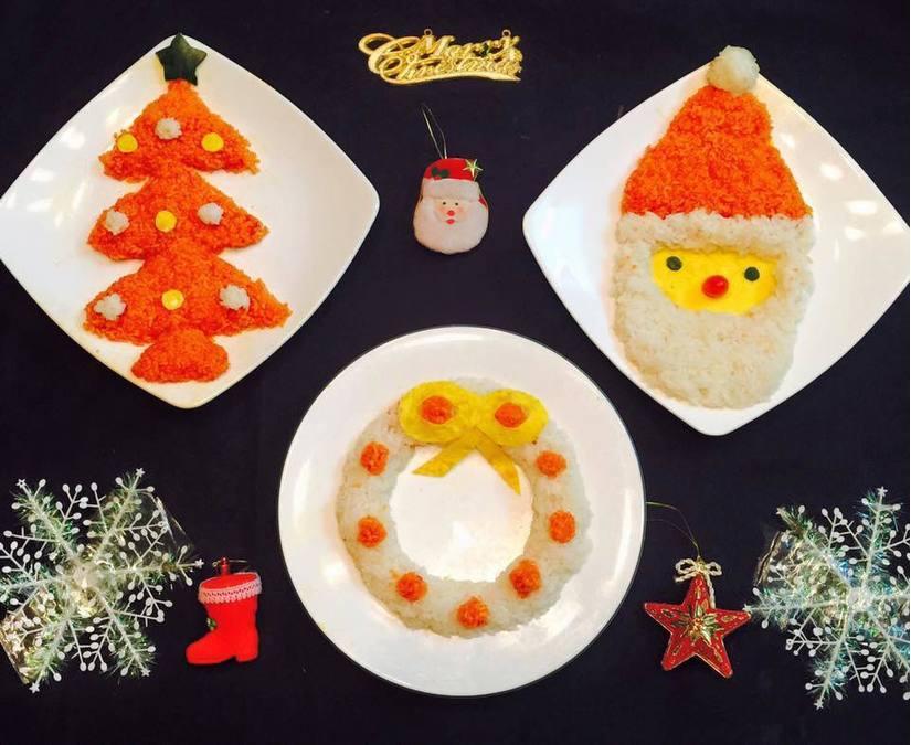 Mẹ khéo tay trang trí món ăn đầy màu sắc Giáng sinh khiến con thích mê15