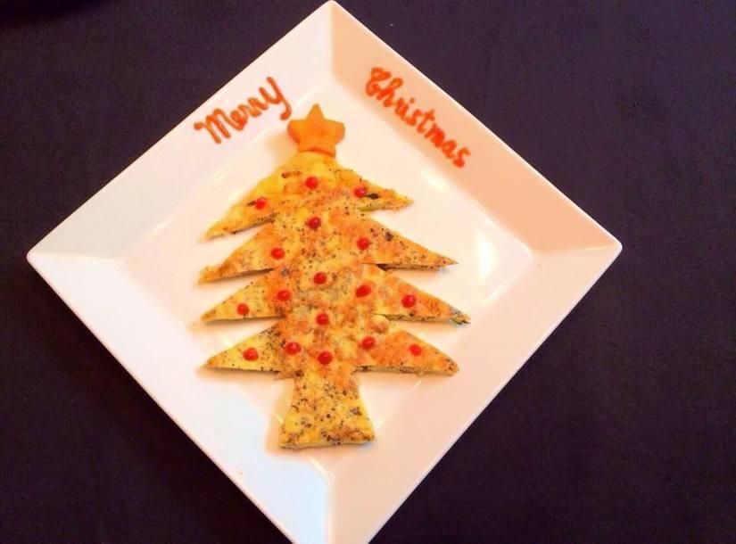 Mẹ khéo tay trang trí món ăn đầy màu sắc Giáng sinh khiến con thích mê4