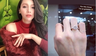 Đúng Giáng sinh, MC Minh Hà khoe nhẫn kim cương ngón áp út, chuẩn bị kết hôn?