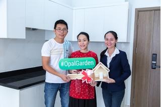 Đất Xanh bàn giao nhà đúng cam kết cho khách hàng sở hữu căn hộ Opal Garden