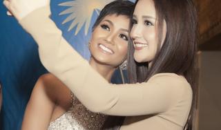 Hoa hậu Mai Phương Thúy bay từ Hong Kong về chúc mừng H'Hen Niê