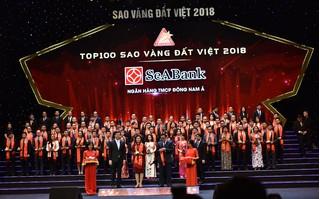 SeABank nhận giải thưởng Sao Vàng đất Việt và Thương hiệu dẫn đầu Việt Nam 2018
