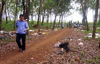 Người đàn ông bán vé số chết bất thường giữa rừng cao su