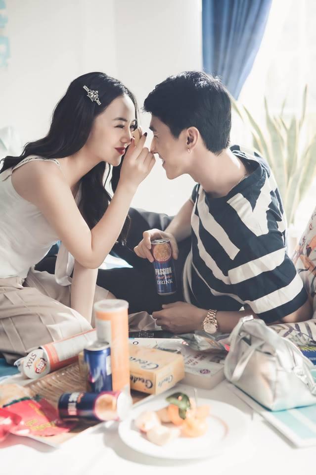 Diễn viên Quỳnh Kool tình tứ với trai lạ trong loạt ảnh mới