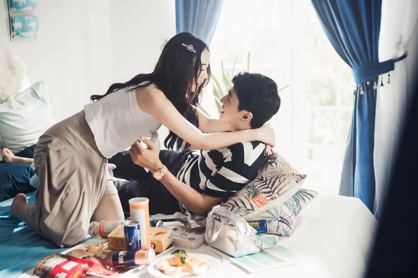 Diễn viên Quỳnh Kool tình tứ với trai lạ trong loạt ảnh mới4
