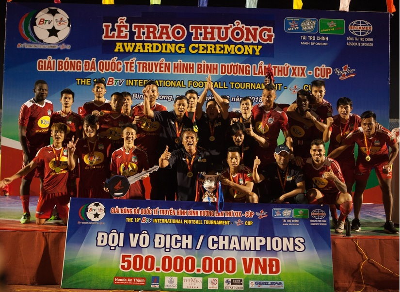 Đội bóng phố núi vô địch BTV – Cúp Number 1 lần thứ 19