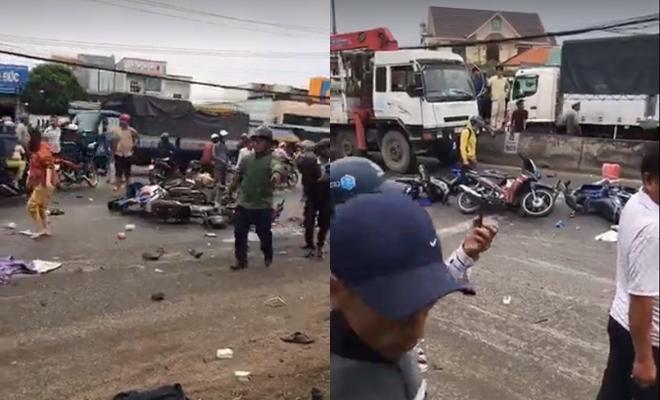 Tài xế container tông hơn 20 xe máy ra trình diện, nghi có uống rượu trước tai nạn