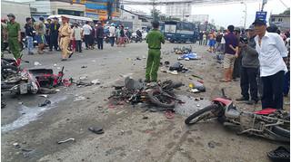 Kết quả giám định hệ thống phanh của xe container gây tai nạn thảm khốc tại Long An