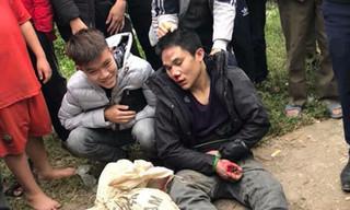 """Vĩnh Phúc: """"Cẩu tặc"""" bị người dân vây đánh bầm dập mặt mũi chân tay"""