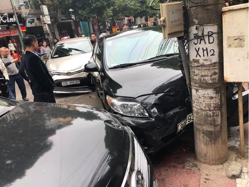Vĩnh Phúc: Nữ tài xế điều khiển ô tô gây tai nạn liên hoàn2