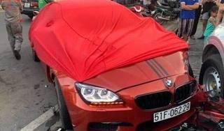 Siêu xe BMW M6 tông hàng loạt ô tô và xe máy ở TP. HCM là xe đi mượn