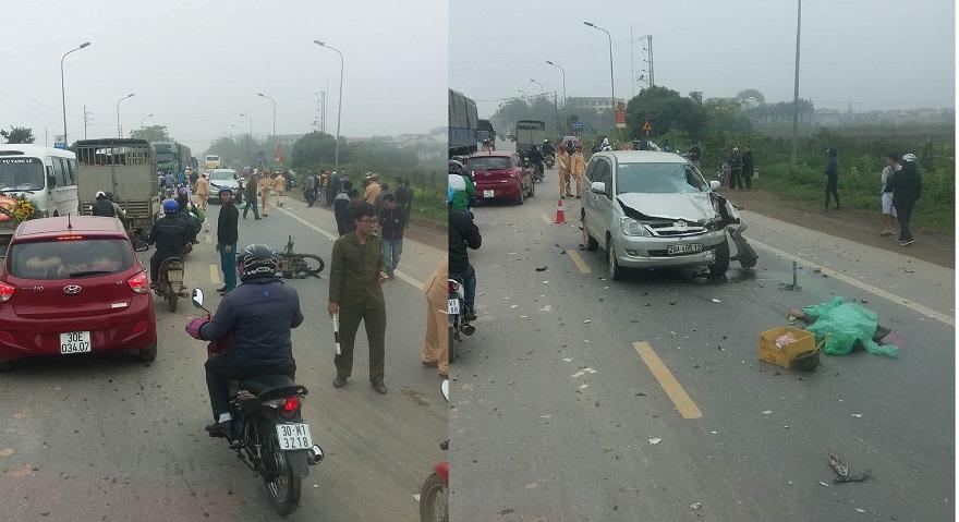 Xe máy đấu đầu ô tô trên quốc lộ 32, hai người tử vong tại chỗ