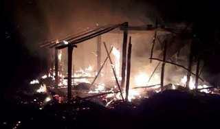 Quảng Trị: Tivi phát nổ do chập điện, thiệu rụi cả căn nhà