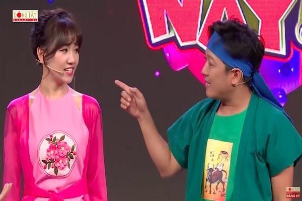 Trường Giang đá xéo Hari Won trên mọi mặt trận sóng truyền hình
