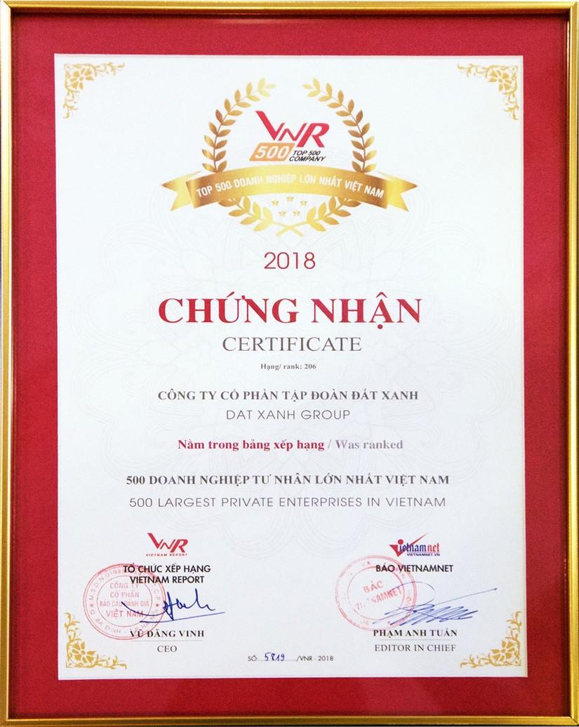 Đất Xanh top 10 doanh nhiệp tư nhân lớn nhất Việt Nam về bất động sản 3