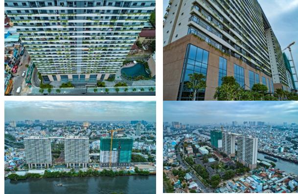 Cất nóc tháp C - Diamond Lotus Riverside: Bức tường xanh khổng lồ giữa lòng Sài Gòn
