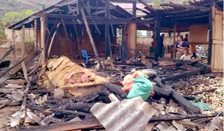Điện Biên: Đốt nhà sau khi cãi nhau với vợ, 2 người thương vong