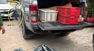 Lái xe tông thẳng vào công an khi bị phát hiện buôn bán động vật hoang dã