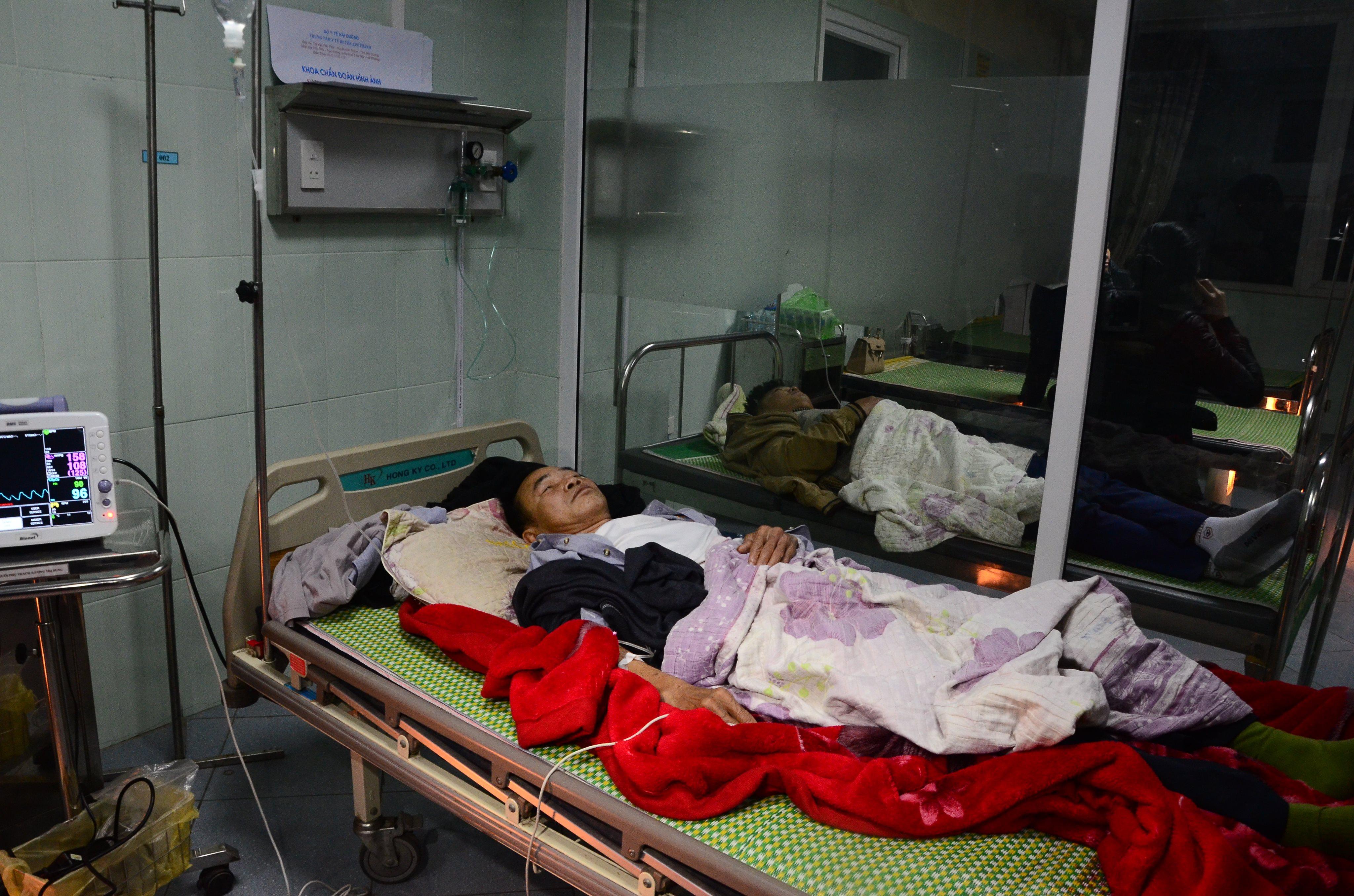 Các bệnh nhân ở dưới Trung tâm y tế huyện Kim Thành sức khỏe đã ổn định