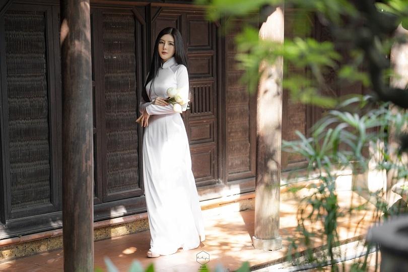 Diễn viên Lilly Luta đẹp trong trẻo với bộ ảnh áo dài đón Xuân12