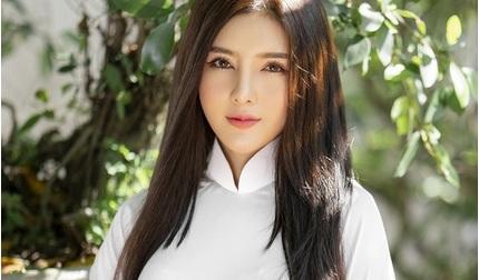 Diễn viên Lilly Luta đẹp 'trong trẻo' với bộ ảnh áo dài đón Xuân
