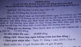 Vụ thưởng…15.000 đồng ở Quảng Nam: Bí thư Tỉnh ủy lên tiếng