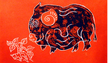 """Giải mã"" Lợn trong tranh dân gian"