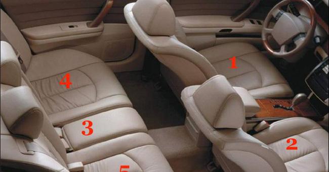 Những vị trí ngồi nguy hiểm nhất trên xe ôtô?