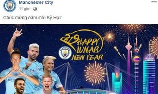Nhiều CLB bóng đá thế giới gửi lời chúc mừng năm mới đến Việt Nam