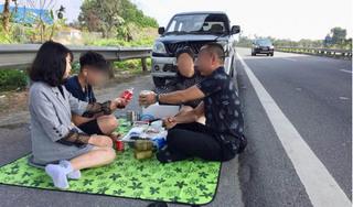 Vụ đỗ xe bày tiệc ăn uống trên cao tốc Nội Bài – Lào Cai: Cục CSGT vào cuộc